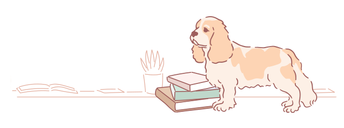 AKC Dog with Books